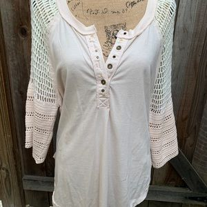 Free People medium pink top shirt new